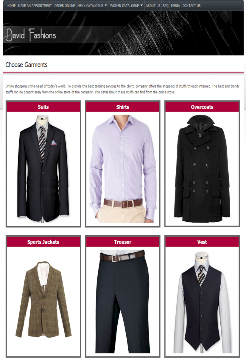 Bespoke Tailors and Clothing