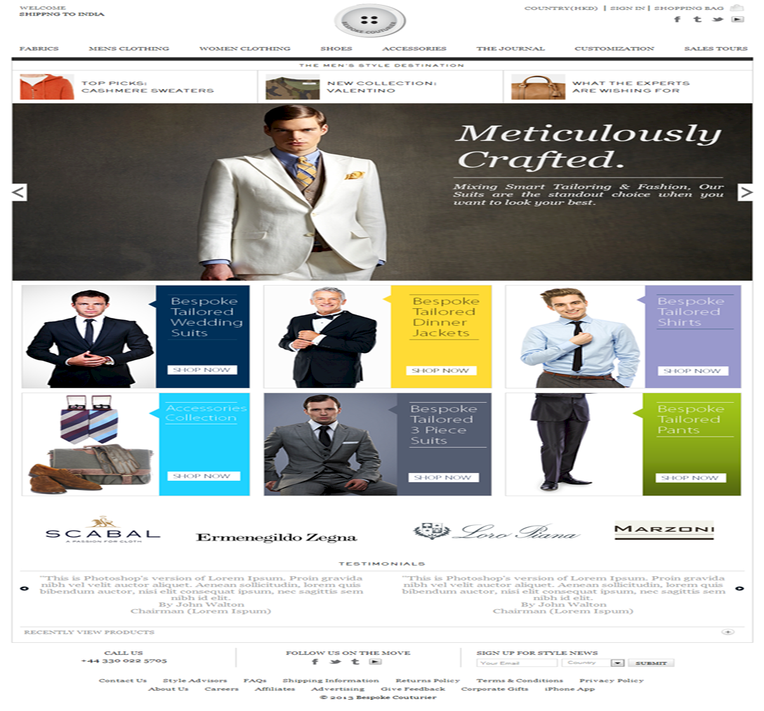 Custom Clothes and Tailoring